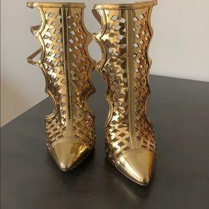 Gold Liliana Heels
